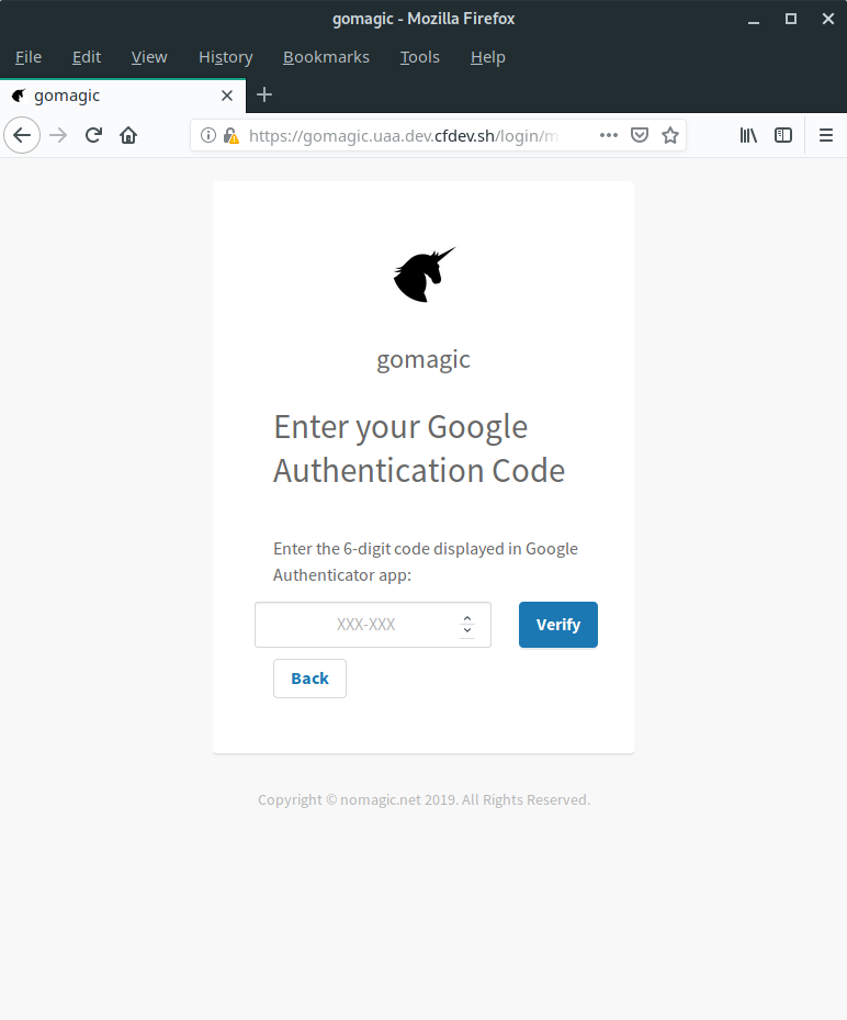 Enable 2 Factor Authentication in Cloud Foundry - nomagic net
